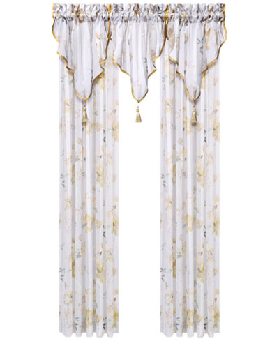 J. Queen New York Imperial Garden Sheer Window Panel and Valance Collection
