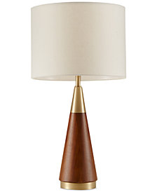 INK+IVY Chrislie Wood Table Lamp