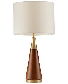 INK+IVY Chrislie Wood Table Lamp