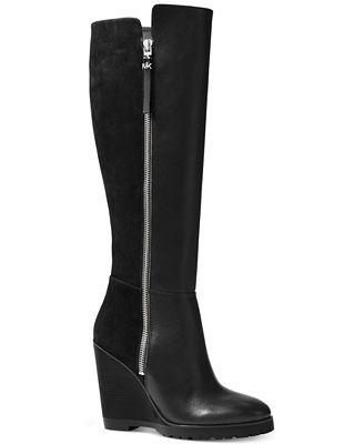 MICHAEL Michael Kors Clara Wedge Tall Boots