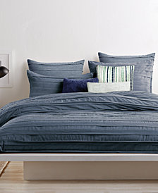 CLOSEOUT! DKNY Loft Stripe Indigo Queen Duvet Cover