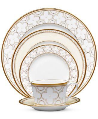 Noritake Trefolio Gold Dinnerware Collection  sc 1 st  Macy\u0027s & Noritake Trefolio Gold Dinnerware Collection - Fine China - Macy\u0027s