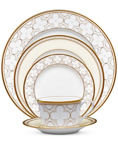 Noritake Trefolio Gold Dinnerware Collection - Fine China - Macy\'s