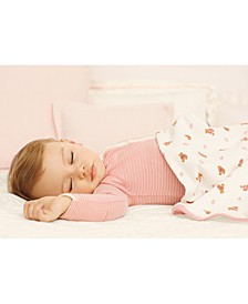 Ralph Lauren Baby Girls Striped Coverall & Bear-Print Blanket