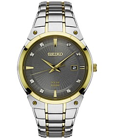 Silver-tone Seiko Watches - Macy's