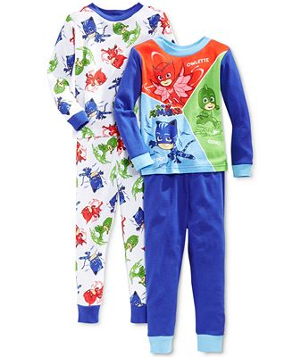 AME 4-Pc. PJ Masks Catboy & Friends Pajama Set, Toddler Boys (2T ...