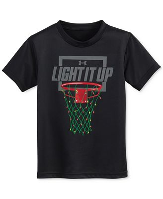 Under Armour Holiday Lights Graphic-Print T-Shirt, Toddler ...