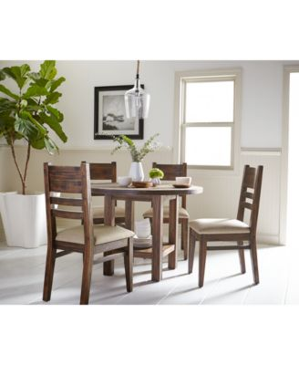 4 Chair Dining Sets avondale round dining set, 5-pc. (dining table & 4 side chairs