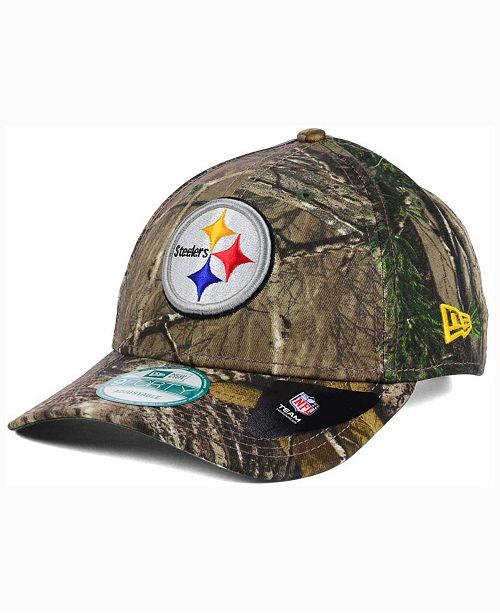 c7699fd5f7e97 New Era Pittsburgh Steelers The League Realtree 9FORTY Cap - Sports ...