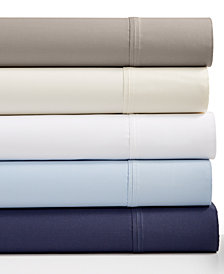 Westport Solid Organic 4-Pc. Sheet Sets, 500 Thread Count GOTS Certified Cotton