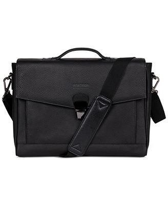 Kenneth Cole Leather Laptop Briefcase