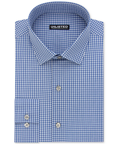 Kenneth Cole Unlisted Men 39 S Slim Fit Check Dress Shirt