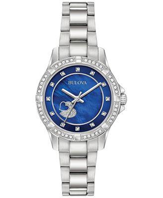 bulova women 39 s stainless steel bracelet watch 30mm 96l238