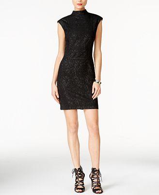guess becky textured bodycon dress dresses women macy s
