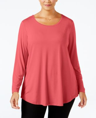 JM Collection Plus Size Scoop-Neck Swing Top, Only at Macy's