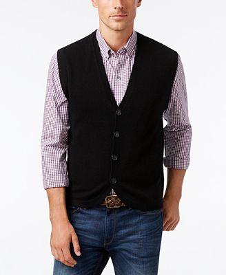 Cutter & Buck Men's Big & Tall Bosque Sweater-Vest