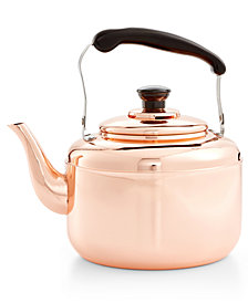 Martha Stewart Collection Heirloom Copper Tea Kettle, Created for Macy's