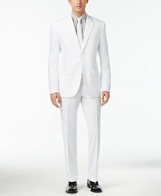 OppoSuits Men's White Knight Slim-Fit Suit - Suits & Suit ...