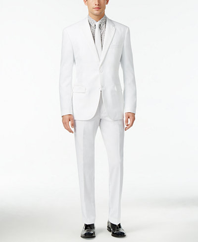 OppoSuits Men's White Knight Slim-Fit Suit