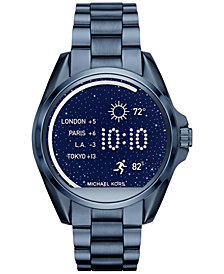 Michael Kors Access Unisex Digital Bradshaw Blue Ion-Plated Stainless Steel Bracelet Smart Watch 45mm MKT5006