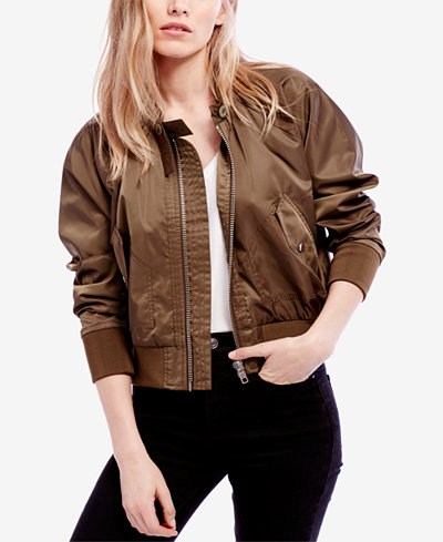 Free People Midnight Bomber Jacket - Jackets - Women - Macy's