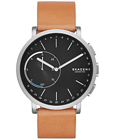Skagen Hagen Smart Watch with Tan Leather Strap 42mm SKT1104