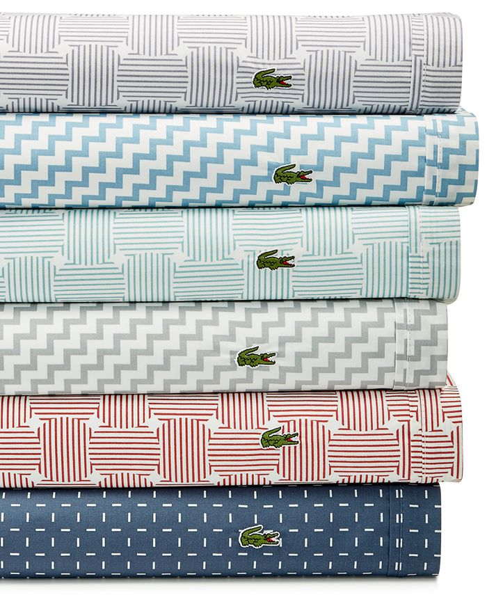 Lacoste Home - Printed Percale Pair of King Pillowcases