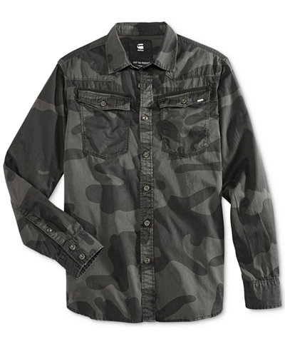 g star raw men 39 s 3301 camouflage shirt casual button down shirts men macy 39 s. Black Bedroom Furniture Sets. Home Design Ideas