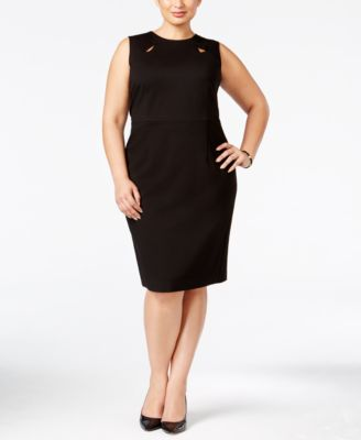 Kasper Plus Size Keyhole Sheath Dress