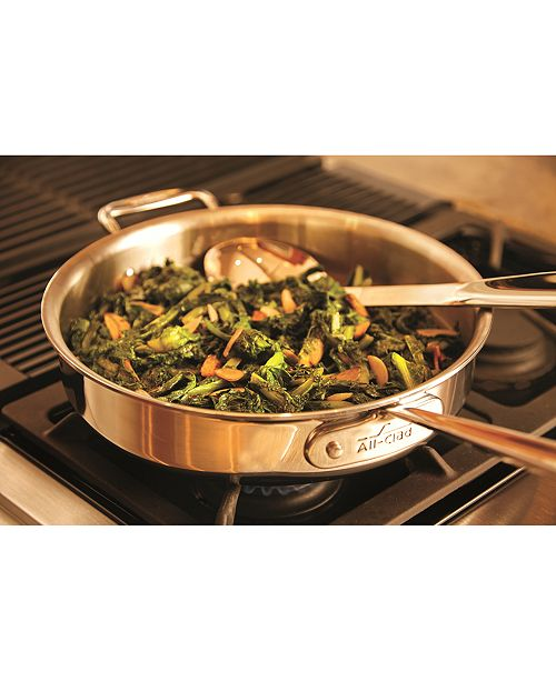 All Clad D3 Armor Stainless Steel 3 Qt Saut 233 Pan With Lid