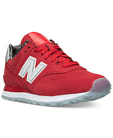 New Balance Women's 574 Luxe Reptile Casual Sneakers from Finish Line