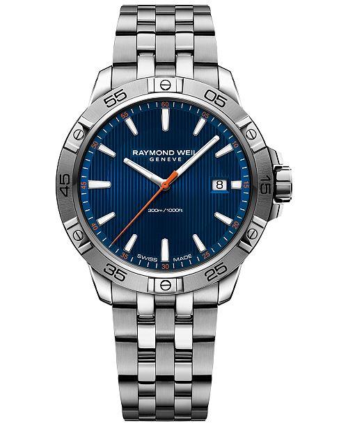 Raymond Weil Men's Swiss Tango Stainless Steel Bracelet Watch 41mm 8160-ST2-50001