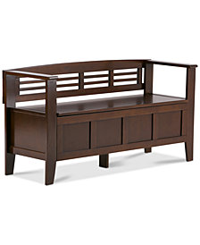 Fernley Storage Entryway Bench, Quick Ship