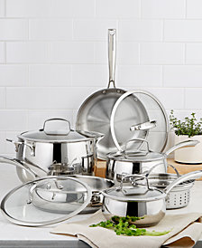 Belgique Stainless Steel 11-Pc. Cookware Set, Created for Macy's