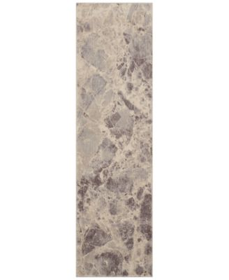 "CLOSEOUT! Moraine MO745 Grey 2' x 5'9"" Runner Rug"