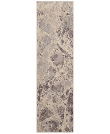 "CLOSEOUT! Nourison Moraine MO745 Grey 2' x 5'9"" Runner Rug"