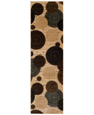 """CLOSEOUT! Sanford Comet Wheat 2'3"""" x 7'7"""" Runner Rug, Created for Macy's"""