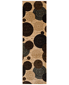 "CLOSEOUT! KM Home Sanford Comet Wheat 2'3"" x 7'7"" Runner Rug, Created for Macy's"