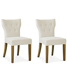 Cohan Set Of 2 Tufted Dining Chairs, Quick Ship