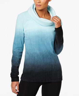 Ideology Fleece Cowl-Neck Top, Created for Macy's