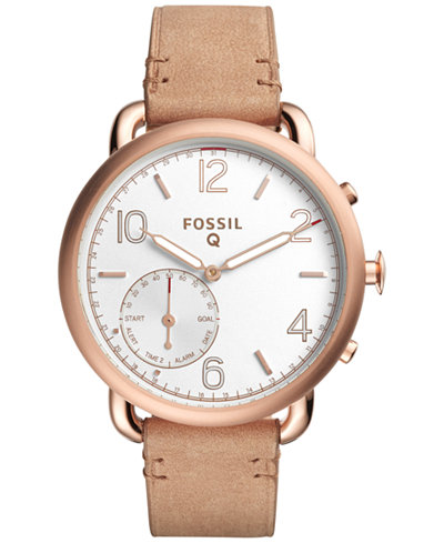 fossil q women s tailor light brown leather strap hybrid smart fossil q women s tailor light brown leather strap hybrid smart watch 40mm ftw1129