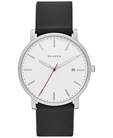 Men's Hagen Black Silicone Watch 40mm