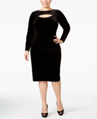 INC International Concepts Plus Size Velvet Sheath Dress, Only at Macy's