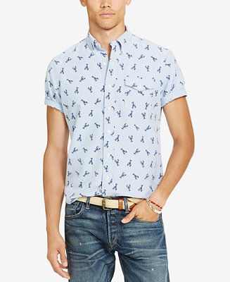 Polo Ralph Lauren Men S Printed Short Sleeve Shirt
