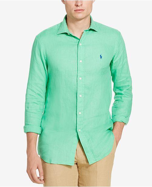 5a7c82aa8508 Polo Ralph Lauren Men's Linen Sport Shirt & Reviews - Casual Button ...