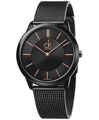 Calvin Klein Minimal Men S Swiss Black Pvd Stainless Steel