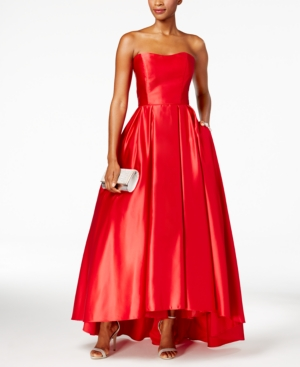 1950s Prom Dresses Betsy  Adam Strapless High-Low Ball Gown $259.00 AT vintagedancer.com
