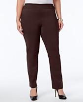 a63c460b950 JM Collection Plus   Petite Plus Size Tummy Control Slim-Leg Pants