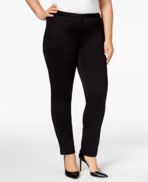 Calvin Klein Plus Size Straight-Leg Scuba Pants