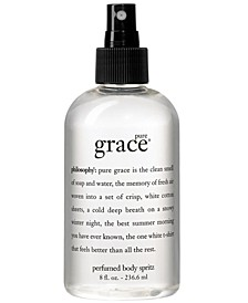 pure grace all over body spritz, 8 oz.